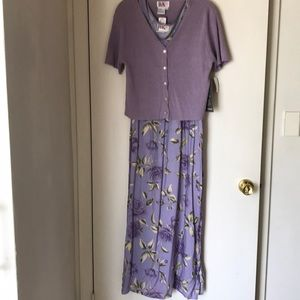 Ladies dress with button down sweater NWT